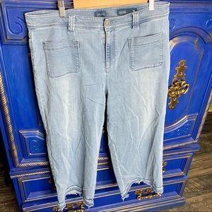 J.Jill Capri Jeans Stretch Cropped High Rise 16P